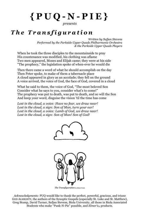 The Transfiguration Flyer